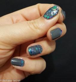 Nail Art Vitrail Glass Nails Manucurist Gris n1-12