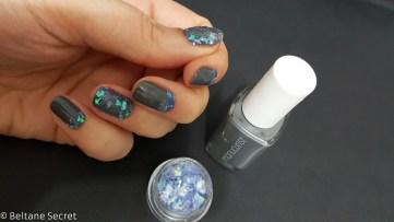 Nail Art Vitrail Glass Nails Manucurist Gris n1-9