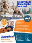 Creative Kids Home for the Summer? Try ♫ Music Lessons & Save 50% off Registration!