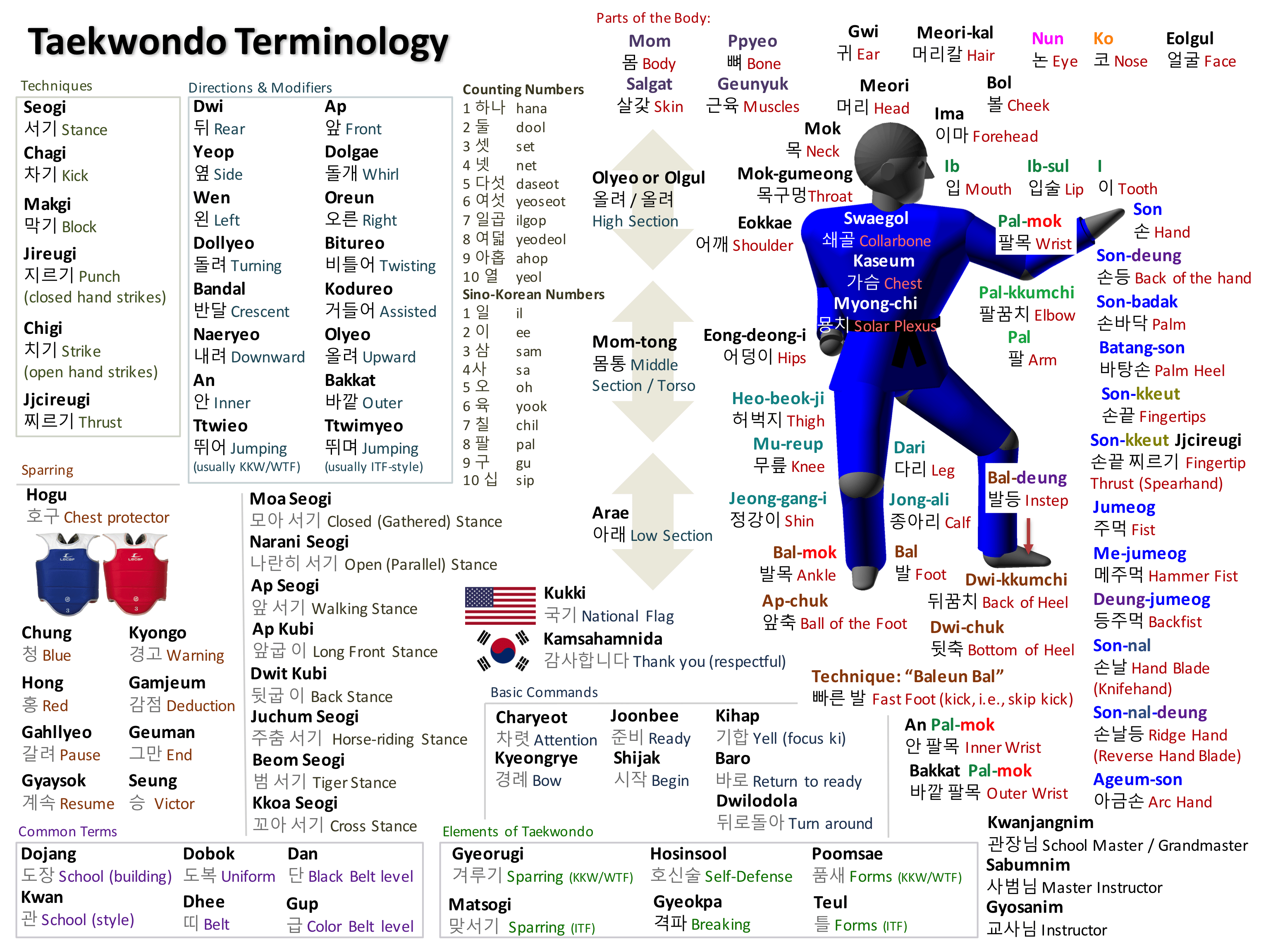 Taekwondo Vocabulary