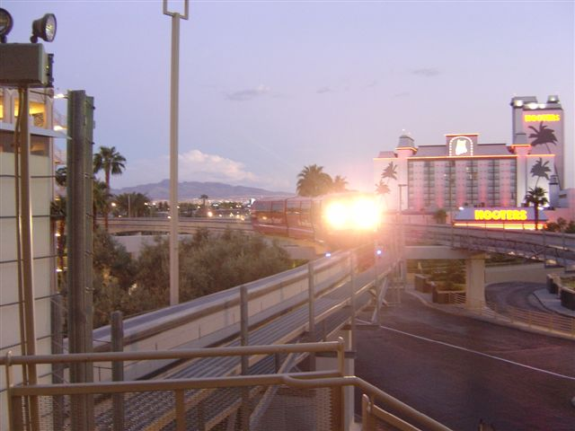 The monorail Las Vegas