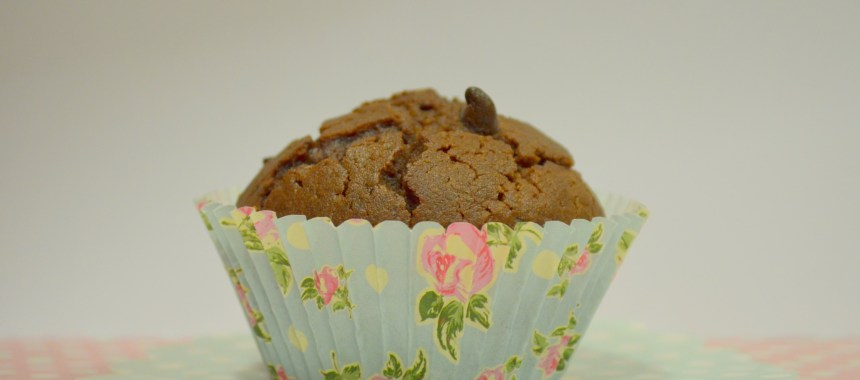 Muffins de chocolate com pepitas