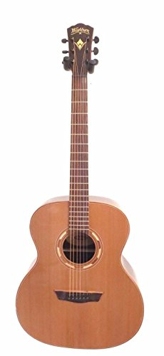 Washburn WLG26S Grand Auditorium Acoustic Eelctric Guitar - Natural - Recording Studio - 1