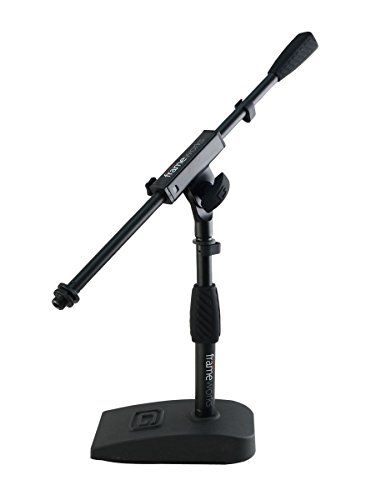 "Gator Frameworks Short Weighted Base Microphone Stand with Soft Grip Twist Clutch, Boom arm, and both 3/8"" and 5/8"" Mounts; Base Dimensions - 4.5"" X 8"" (GFW-MIC-0821) - Recording Studio - 1"