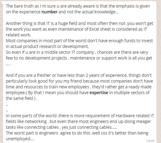 Excerpt for Indian IT Industry