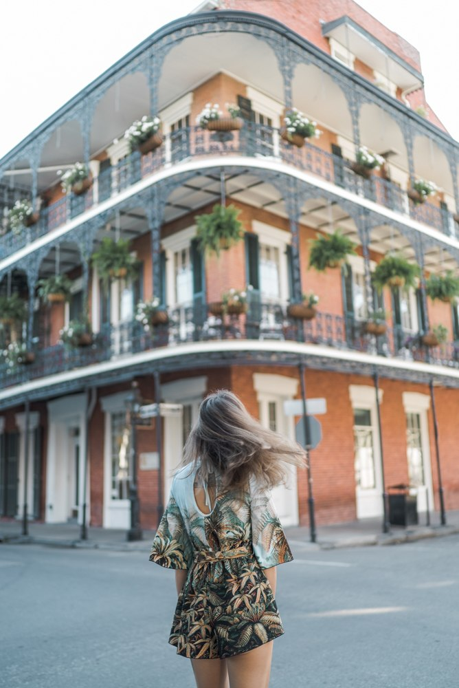 solo female travel in new orleans - Taken at Royal and Dumaine street in the French Quarter