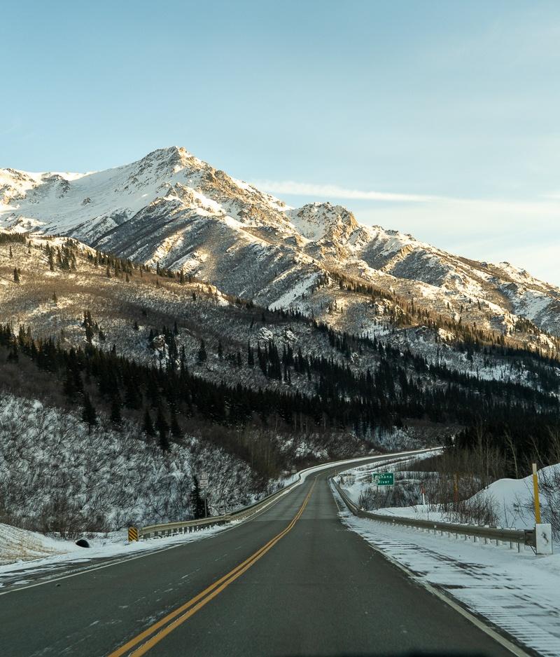 alaska in winter roads