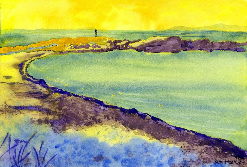 Golden Shore Cummingston: painted as a last memento from this invigorating land.