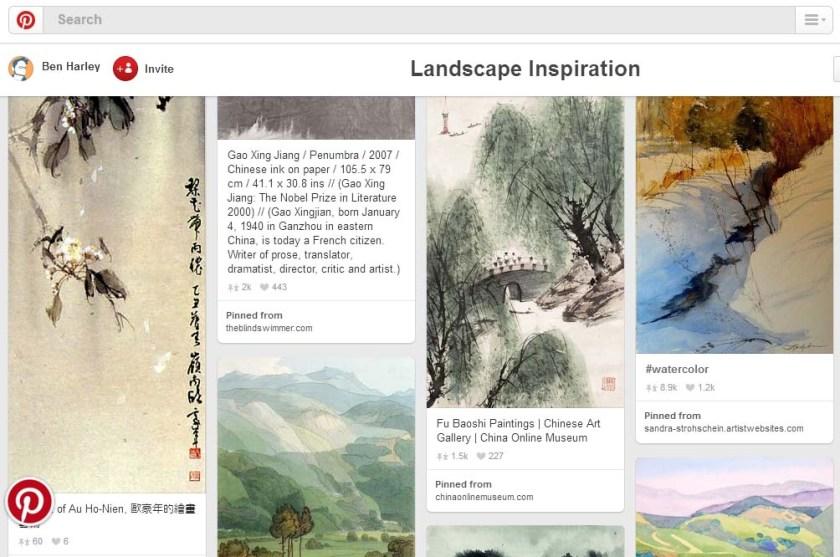 My landscape painting inspiration.