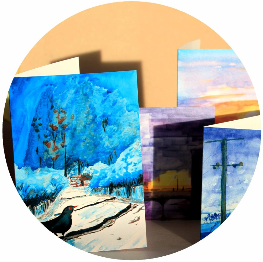 Fine art cards, featuring the watercolour paintings of Ben Harley.