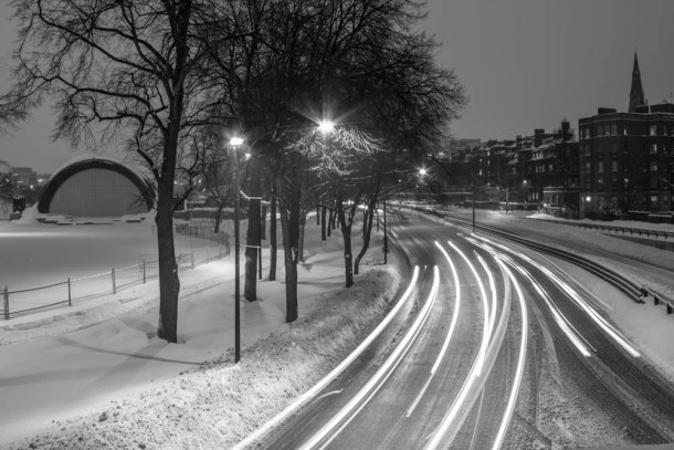 Storrow Drive in the snow