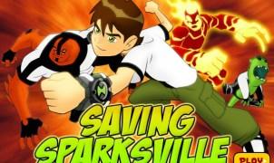 Ben 10 Saving Sparksville Game