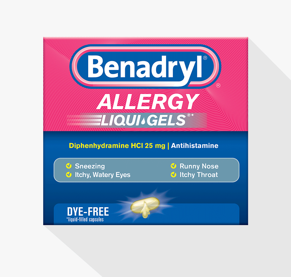 Image Result For Benadryl Allergy Liqui Gels