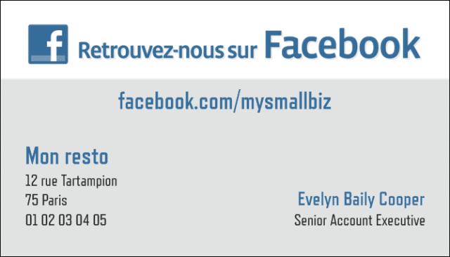 carte de visite fan facebook