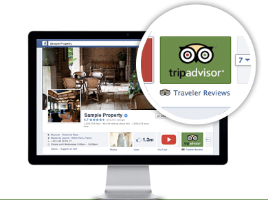 application facebook Trip Advisor