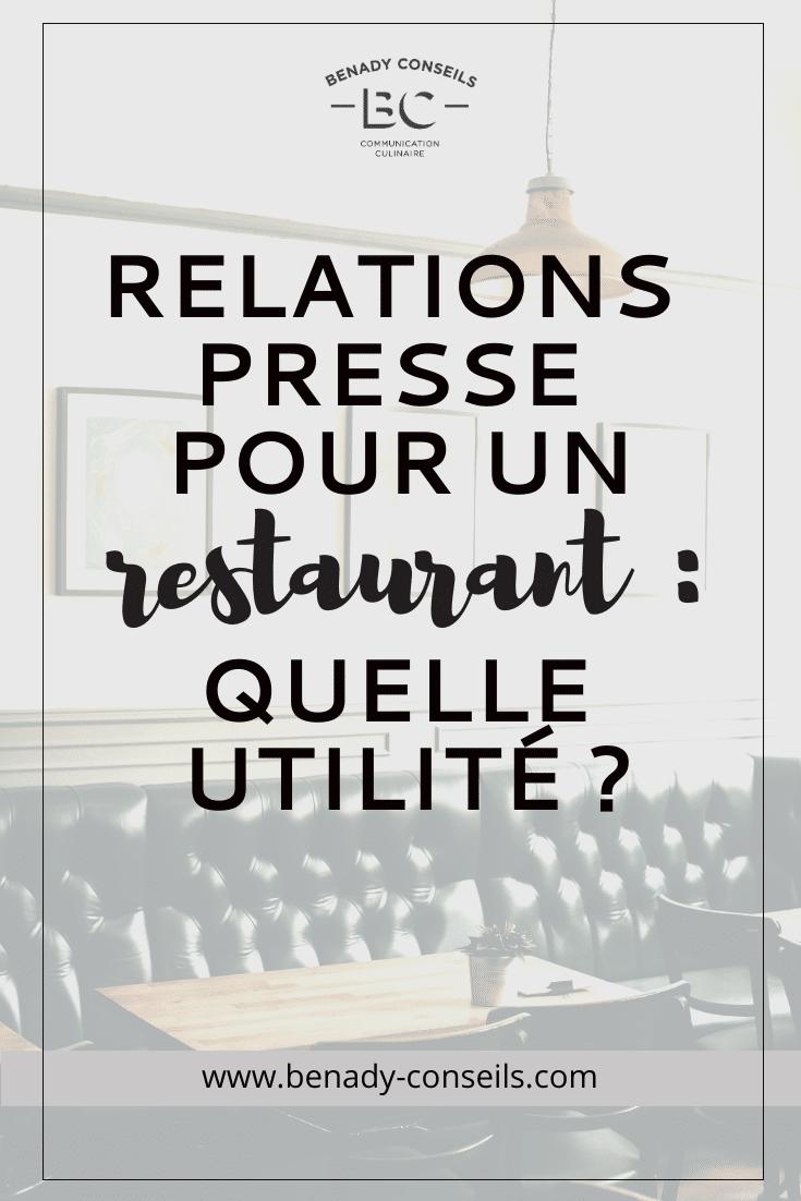 Relations presse pour un restaurant : à quoi ça sert ?