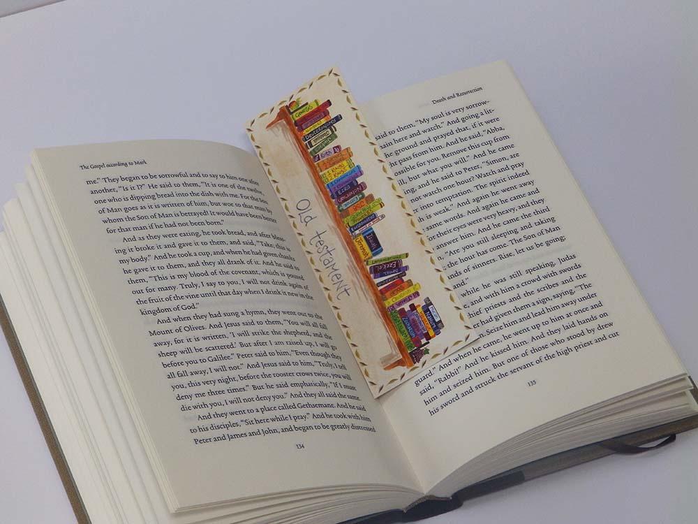 Books Of The Bible Bookmark Ben And Hannah Dunnett