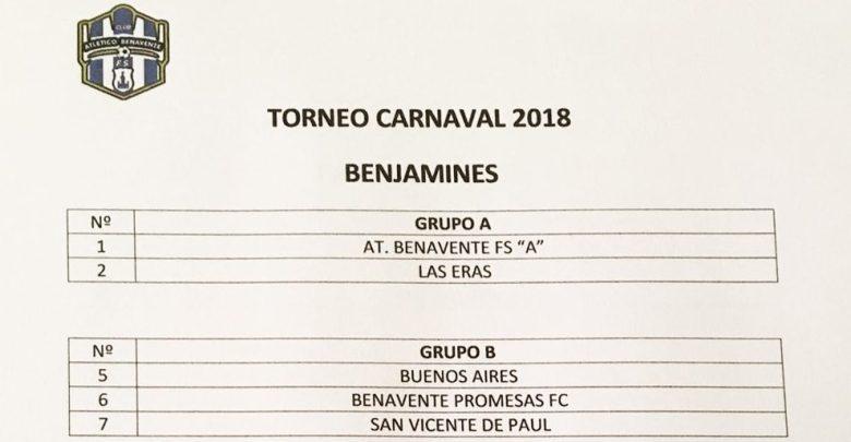 Photo of Horarios Torneo de Carnaval 2018 del Atlético Benavente Fútbol Sala