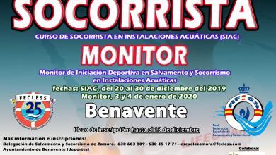 Photo of Curso intensivo de socorrista y monitor de Iniciación Deportiva en Benavente
