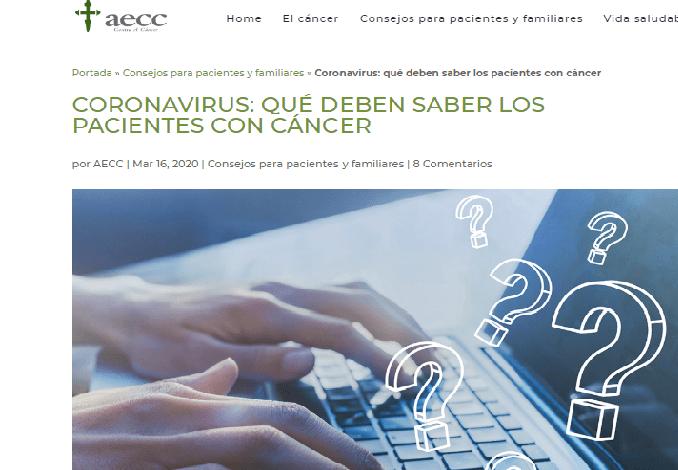 Photo of La AECC crea un fondo de tres millones de euros para ayudas a los pacientes oncológicos