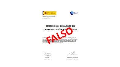 Photo of FALSO: Suspensión de clases en Castilla y León por COVID-19