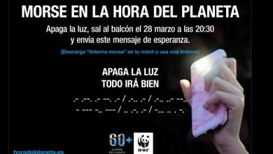 Photo of Celebra la hora del planeta con el mensaje en morse «Todo irá bien»