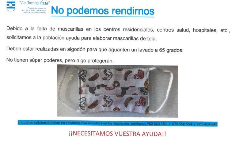 Photo of La Residencia de Villalpando pide ayuda para elaborar mascarillas de tela