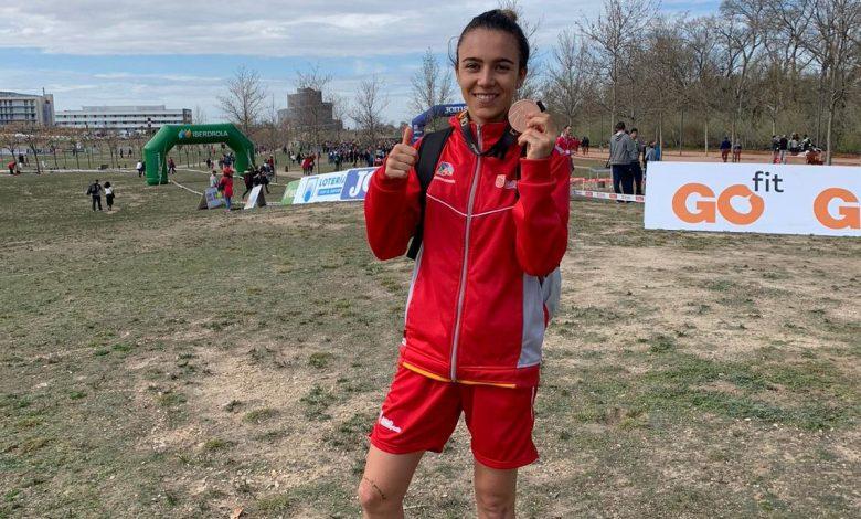 Photo of Teresa Herráez tercer puesto por equipos con la Selección de Castilla y León en el Nacional de Campo a Través