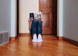 reading on the floor
