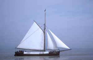 "Severn Trow ""Spry"" under sail"