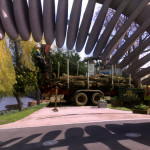 Manipulated image of the Quantum Leap sculpture and Les' HGV