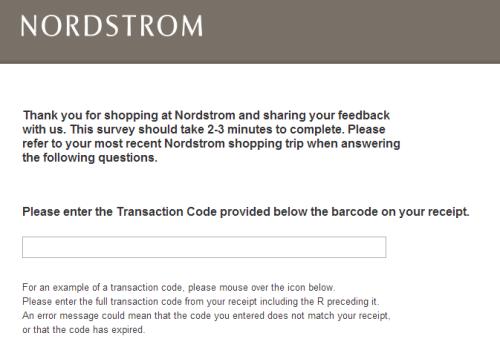 Nordstrom Survey