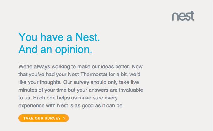 nest customer feedback