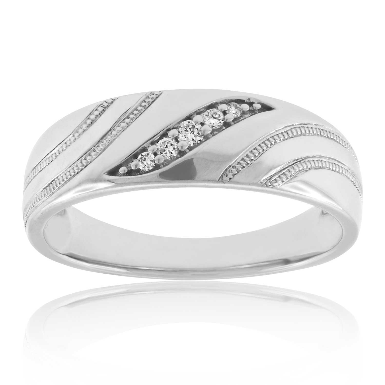 Men39s Diamond Wedding Band 14K Ben Bridge Jeweler