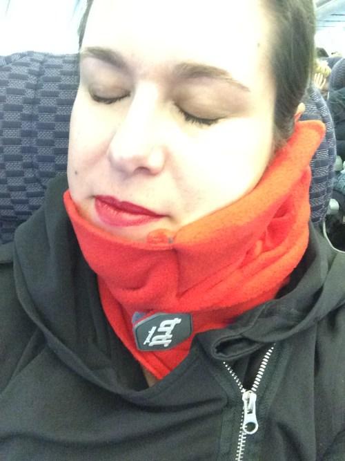 NapScarf on the plane image