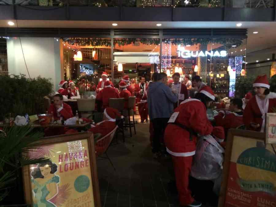 end of the santa run
