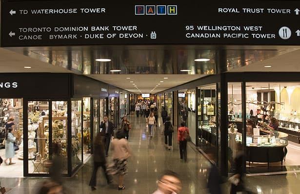 Toronto underground walkway indoor image