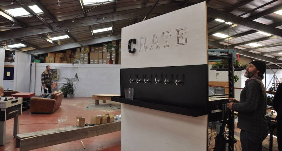 mick's garage crate brewery