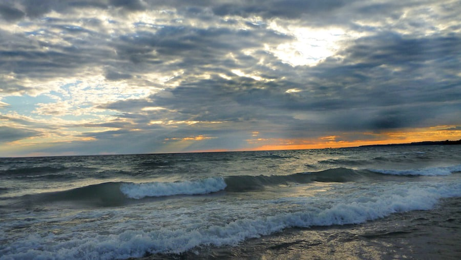 ontario travel balm beach sunset