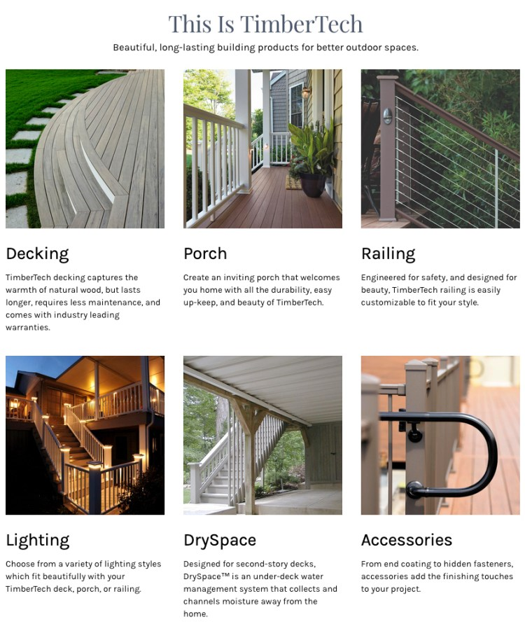 Timbertech products