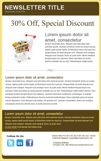 Benchmark Email Email Template Special Discount Feature