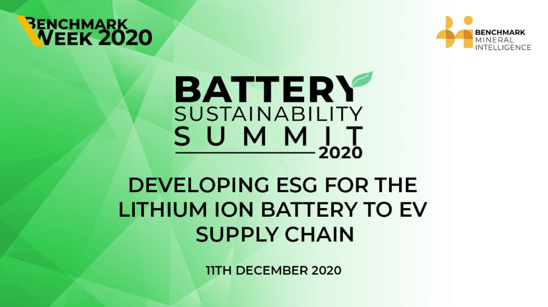Developing ESG for the lithium ion battery to EV supply chain