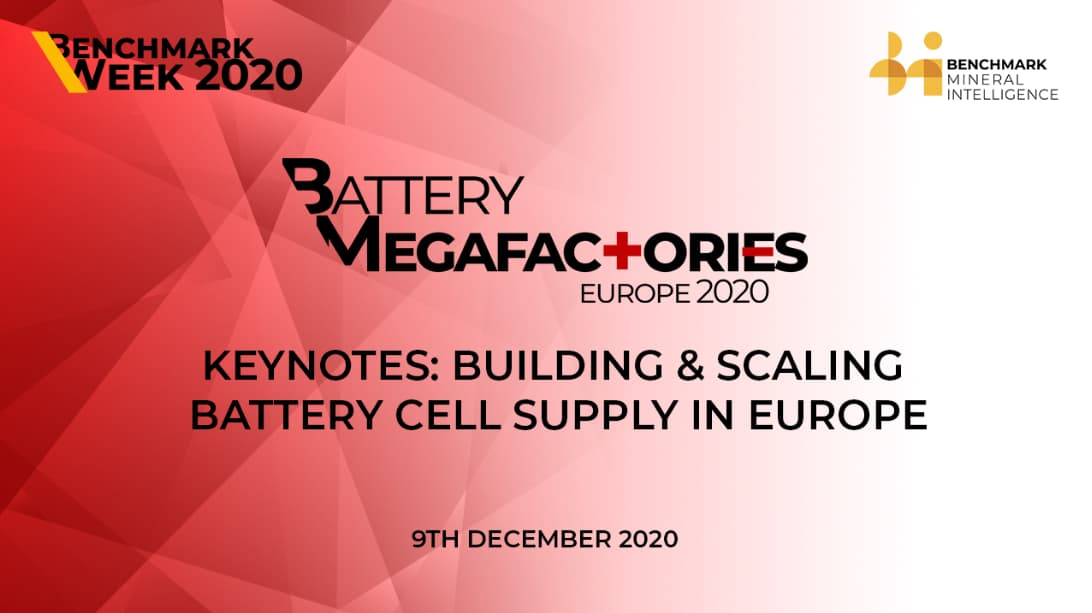 Keynotes: Building & scaling battery cell supply in Europe