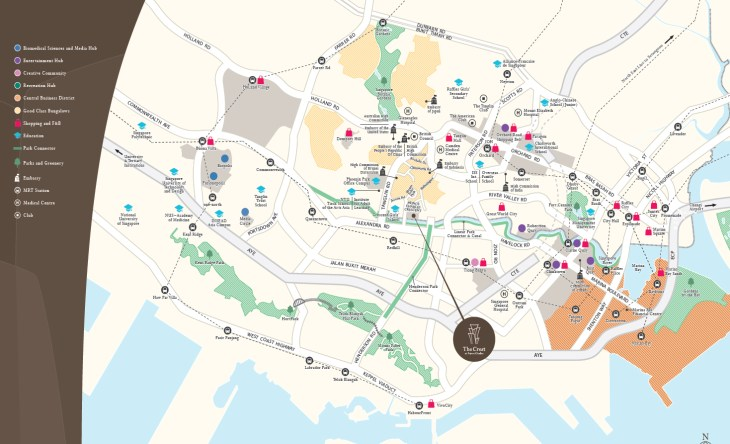 The Crest Location map