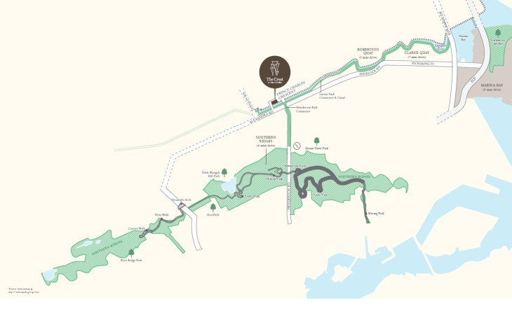 The Crest Park Connector Map