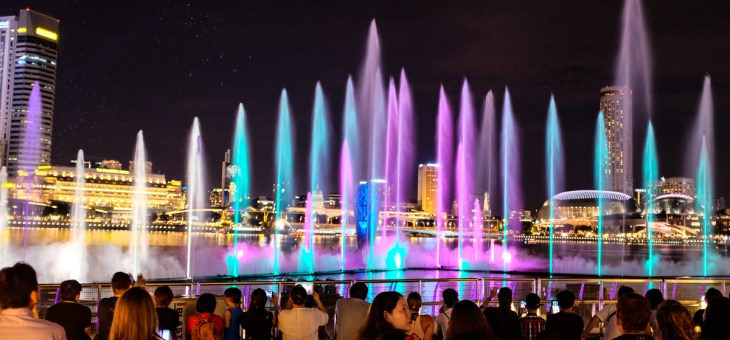 The all-new laser show at Marina Bay Sands