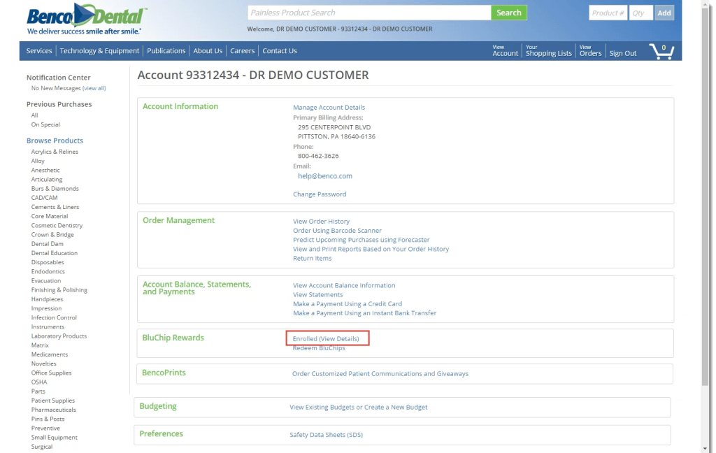 Enrolled View Details1