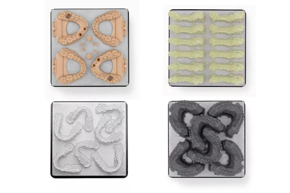 Finished models from dental 3D printer