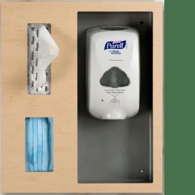 wall mounted hand sanitizer unit