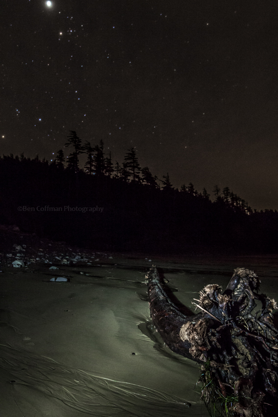 indian beach, oregon state parks, ecola state park, oregon coast, night photography